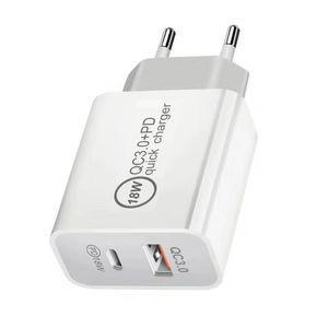 18W Dual PD Быстрое зарядное устройство 3.0 USB адаптер для iPhone Type C Быстрая зарядка