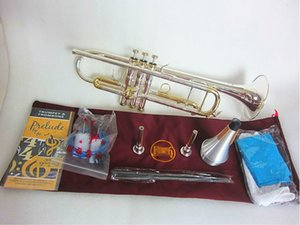 Bach Stradivarius LT180S-72 Trumpet Authentic Double Silver Plated B Flat Professional Trumpet Top Musical Instruments Brass