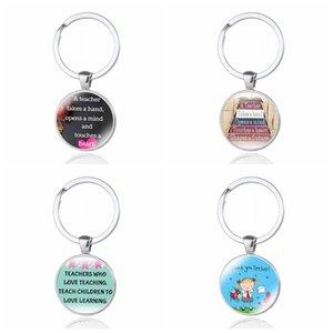 A variety of cartoon teachers' day keychain key ring thanksgiving gift keychain teaching love gem silver nursery 995 Q2