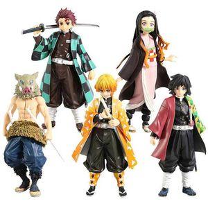 Demone Blade Anime Carattere Kimetsu No Yaiba Charcoal Jijiro Ninja King Ninja Devil Killer Azione PVC Azione Azione Collezione Bambola Giocattolo del modello Q0722