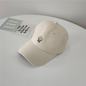 Hat female smiley face han edition joker baseball cap embroidery spring and summer summer web celebrity soft top cap male tide