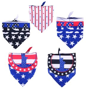 Dog Apparel Bandanas for 4th of July Independence Day Medium Large Dogs Reversible Scarf Pet Accessories Bibs Handkerchief
