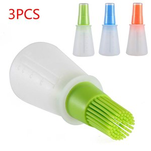 Tools & Accessories 3PCS Silicone Oil Bottle Brush With Barbecue Cap Ladder Sauce Butter Kitchen Cooking