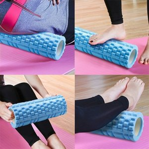 Yoga Column Gym Fitness Foam Roller Pilates Yoga Exercise Back Muscle Massage Roller Soft Yoga Block Muscle roller Drop Shipping 1239 Z2
