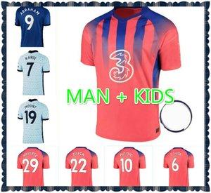 Size: S-4XL 2021 Kante Pulisic Soccer Trackss Hudson Pedro Odoi Jorginho Lambard Giroud 20 21 Мужчины + Детские Главная Уильян Футбольные рубашки