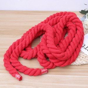 Twine String Rope 20mm Cotton Thickened Craft For DIY Decoration Clothing Packaging (Red) Yarn