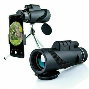 Camcorders 80x100 HD Monocular Telescope Plastic With Mobile Phone Tripod Holder Outdoor Camping Travel Tools Summer Accessories Dropship