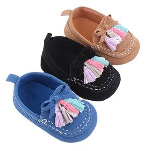 Baby First Walkers Infant Shoes Toddler Girls Boys Footwea Spring Autumn Tassel Moccasins Soft Newborn Wear 0-12M B8307