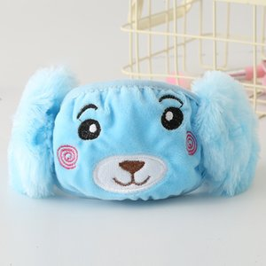 Child Cartoon Bear Face Mask Cover Plush Ear Protective Thick Warm Chindren Mouth Winter Mouth-Muffle flap For Kids ZZE5273