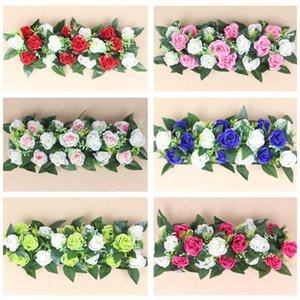 Artificial Rose Flower Row DIY Road Led Wedding Bouquet El Background Wall Decoration Silk Decorative Flowers & Wreaths