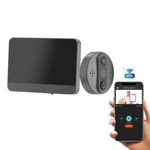 """Video Door Phones Smart WiFi Bell With 720P Camera Peephole For 4.3"""" LCD Screen 24H Security PIR Movement Detection APP Control"""