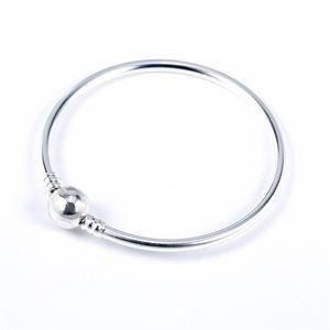 الفضة الاسترليني الفضة أصيلة سوار صالح الأصلي باندورا سوار الإسورة أو الشحام الخرزة سحر الصلبة الفضة 53 J2