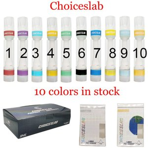 Colorful Full Ceramic Carts Choiceslab Snap on Cartridge Atomizer 0.8ml 1.0ml Empty Disposable Vape Pen 510 Thick Oil Cartridges Choice Packaging