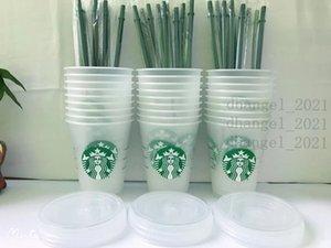 Starbucks 16oz / 473ml sirena di plastica tumbler riutilizzabile latte di latte di latte di latte freddo