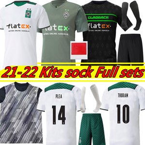 21/22 Borussia Mönchengladbach Fussball Trikots 2021 2022 Gladbach Stindl Elvedi Plea Zakaria Neuhaus Ginter Thuram Embolo Männer + Kinder Kits Socke Full Set Football Shirt
