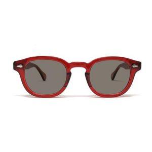 2021 Джонни Депп Солнцезащитные очки Мужчины Женщины Поляризованные Солнцезащитные Очки Бренд Винтаж Ацетат Рамка Лемтош Очки Очки высшего качества 005