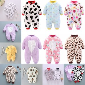 Newborn Baby Spring Winter Clothes Infant Jacket for Girls Jumpsuit for Boys Soft Flannel Bebe Romper Baby Clothes 0-18 Month 1532 Y2