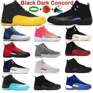 أعلى جودة 12 ثانية 12 جامعة الذهب كرة السلة أحذية النيلي الأسود الظلام كونكورد سمري عميق الملكي الأزرق أحذية عكس الانفلونزا لعبة الثيران الرجال المدربين