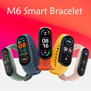 M6 Smart Bracelet Wristbands Fitness Tracker Real Heart Rate Blood Pressure Monitor Screen IP67 Waterproof Sport Watch For Android Cellphones VS M4 M5 ID115 Plus