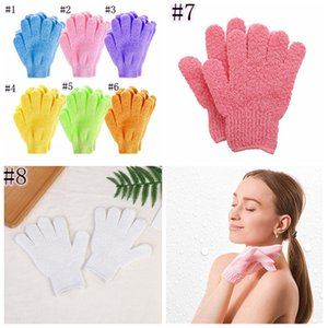 Moisturizing Spa Skin Care Cloth Bath Glove Mitten Exfoliating Cleaning Gloves Cloth Scrubber Face Body JJA71