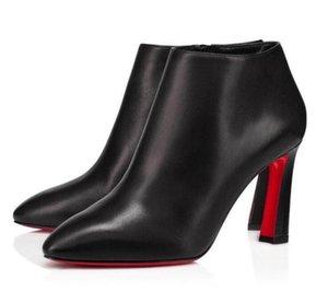 الشهيرة تصميم الشتاء الأحذية العلامات التجارية الجوارب المرأة الأحمر أسفل eleonor الكاحل التمهيد أشار تو السيدات وحيد السيدات عالية الكعب حفل زفاف