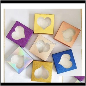 Gift Wrap 10Pcs Colored Paper Eyelash With Tray Lash Boxes Packaging Rec Makeup Stoarge Package Box F Wmtzsn Wvx1E Ky6Nc