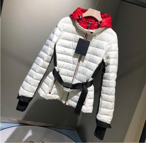 Women Hooded Down Coat Thick Soft Warm Double Zipper ski suit Jacket Waterproof Parkas Black and White