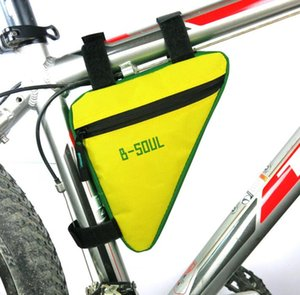 Waterproof Triangle Bicycle Bags Cycling Bikes Front Tube Frame Bag Mountain Bike Pouch Holder Saddle Panniers phone tool packs