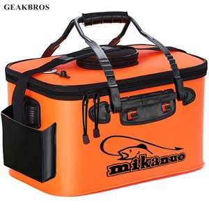 Foldable Fishing Bucket Tackle Bag Live Fish Container Multi-Functional Lures Outdoor EVA Accessories