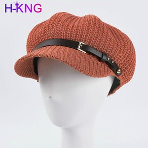 Spring Hollow Mesh Ladies Cappello ottagonale Cappello ottagonale Versione coreana di Pure Color Berret Berret Berret Decorativo Sun Wide Brim Hat
