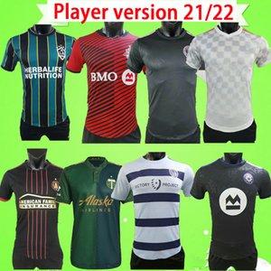 Atlanta MLS Player Version 2021 Atlanta United 축구 유니폼 홈 레드 블랙 # 7 MARTINEZ # 12 ROBINSON 축구 셔츠 최고 품질 사이즈 S-2XL