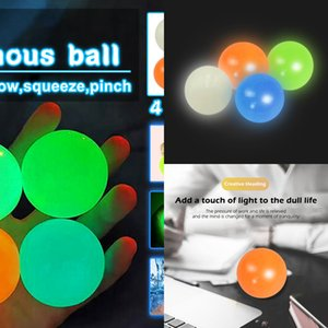 45-65m Stick Wall Fluorescent Squash Xmas Sticky Target Ball Decompression Throw Fidget Toy Kids Relieve Stress Novelty LSZH