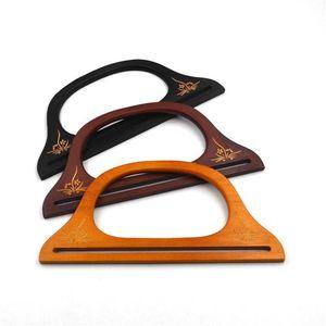Bag Parts & Accessories Women Wooden Handle For Handmade Bags Handbag Lady DIY Handcraft Supplies Femme