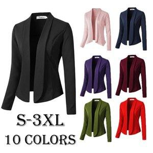 Fashion Autumn Women Blazers Casual Jacket Work Office Lady Suit Slim None Button Business Female Oversized Blazer Coat Women's Suits &