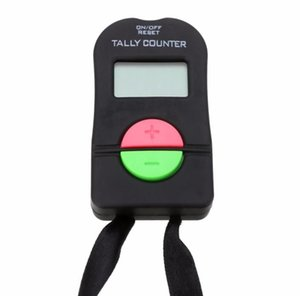 200pcs Digital Hand Tally Golf Counter Electronic Manual Clicker Gym Security Running Clicker Up Down Neck Strap SN2738