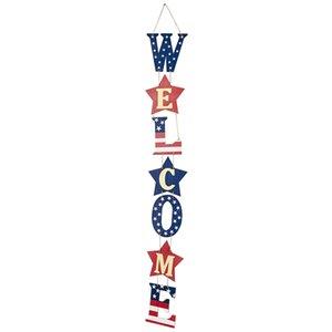 Letras sinal independência dia decorações decorações de madeira rústica sinais de suspensão para a porta da porta da varanda