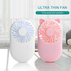 Short hands-free hanging cooling mini portable USB charging fan, suitable for home and office travel