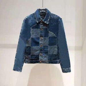 2021 Осенью и зимняя мужская новая джинсовая куртка качества куртки для мужчин и женщин куртки ZDLL30424.