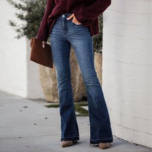 Women's Pants & Capris Elegant Skinny Flared Blue Jeans Womens Fashion Retro Denim Bootcut Bell Bottoms Stretch Trousers Women #t3g