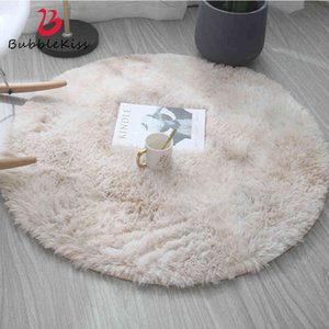 Bubble Kiss Fluffy Round Carpets for Living Home Decor Bedroom Kid Room Floor Mat Decoration Salon Thicker Pile Rug