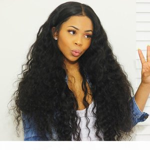 Water Wave Wigs Mongolian Hair Lace Front Wigs for Women 8-24 inch Natural Color Human Hair Wigs with Baby Hair