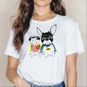 Womens T Shirt Super Pug puppy dog animal print women clothes funny femme harajuku kawaii female tops