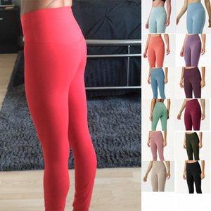 Womens Luxurys Designers Sexy Align Align Leggings Vermelho Rosa Exercício Fitness Wear Shaping Stuffing Estatura Elástica Yoga Gym High Workout Calças