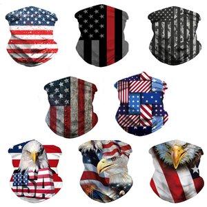 США флаг шарф 3d маски для вечеринки украшения для мужчин женские шарфы повязка на голову спортивные шарфы моющиеся защитная спортивная маска спорты