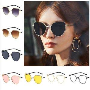 Мода Женщин Солнцезащитные очки Cat Eye Солнцезащитные Очки Личности Сплав Adumbral Анти-УФ Очки Негабаритные Рамки Очки A ++