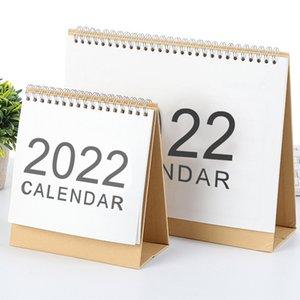 2022 Simple Desktop Calendar Coil Creative Portable Work Note New Year Plan Daily Monthly Planner Schedule Office School Supplies WZG HP0714
