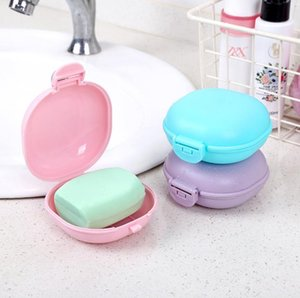 Home Supplies Plastic Travel Soap Box with Lid Bathroom Macaroon Portable Soaps Boxes Holder 5 Colors Available GGA5107