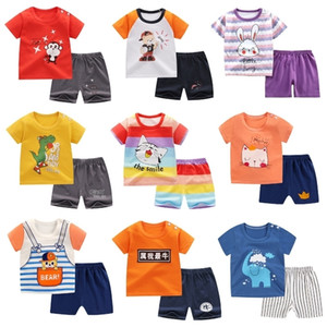 Children's short sleeve T-shirt pure cotton summer suit for boys and girls