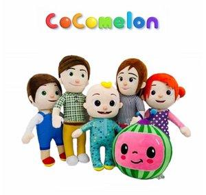 COCOMELON Dolması Peluş Oyuncaklar Bebekler Yumuşak Karikatür Anime Yatma Karayolu Peluş Oyuncak JJ Aile Eğitim Çocuklar Hediye Plushie CA21