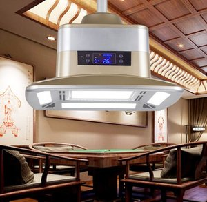 LED Air Purification Ceiling Fan Light Smoking Invisible Study Mahjong Hall Lift LCD Chess Room